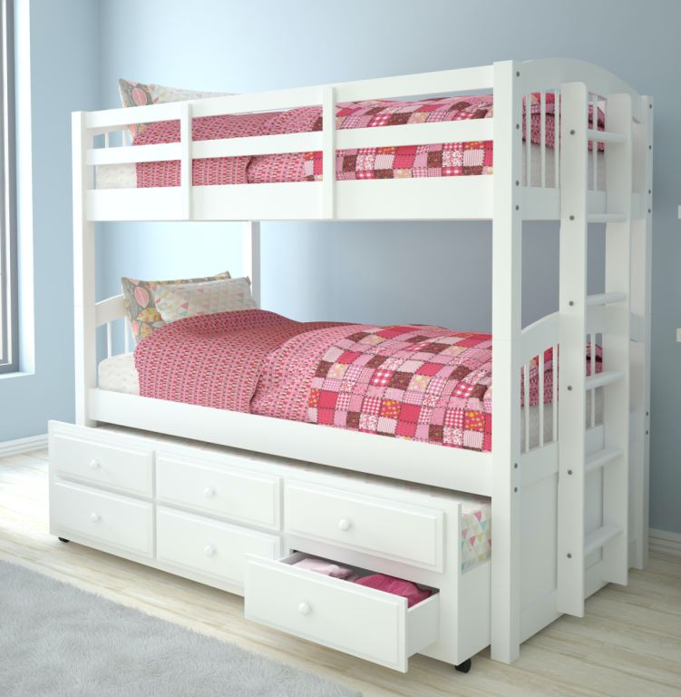 micah twin twin bunk bed and trundle
