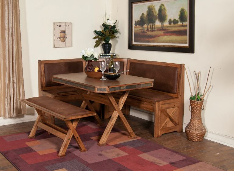 Sunny Designs Dining Room Sedona Breakfast Nook Set With