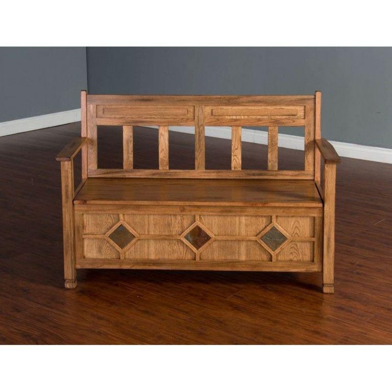 Sunny Designs Living Room Sedona Bench 2284RO-3