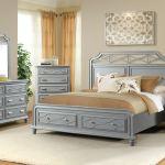 Elements International Mystic Bay Storage Gray Bedroom Gilliam Thompson Furniture Mayfield Ky