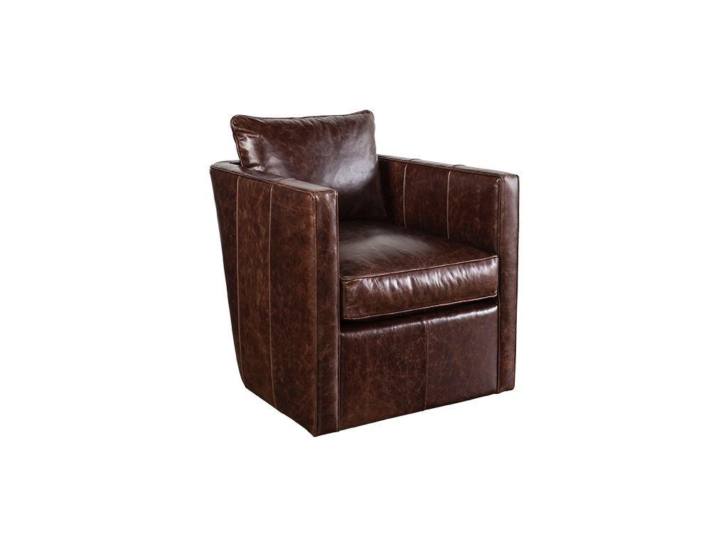 Robin Bruce Living Room Leather Swivel Chair Rothko L 016