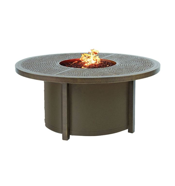 altra round coffee table firepit