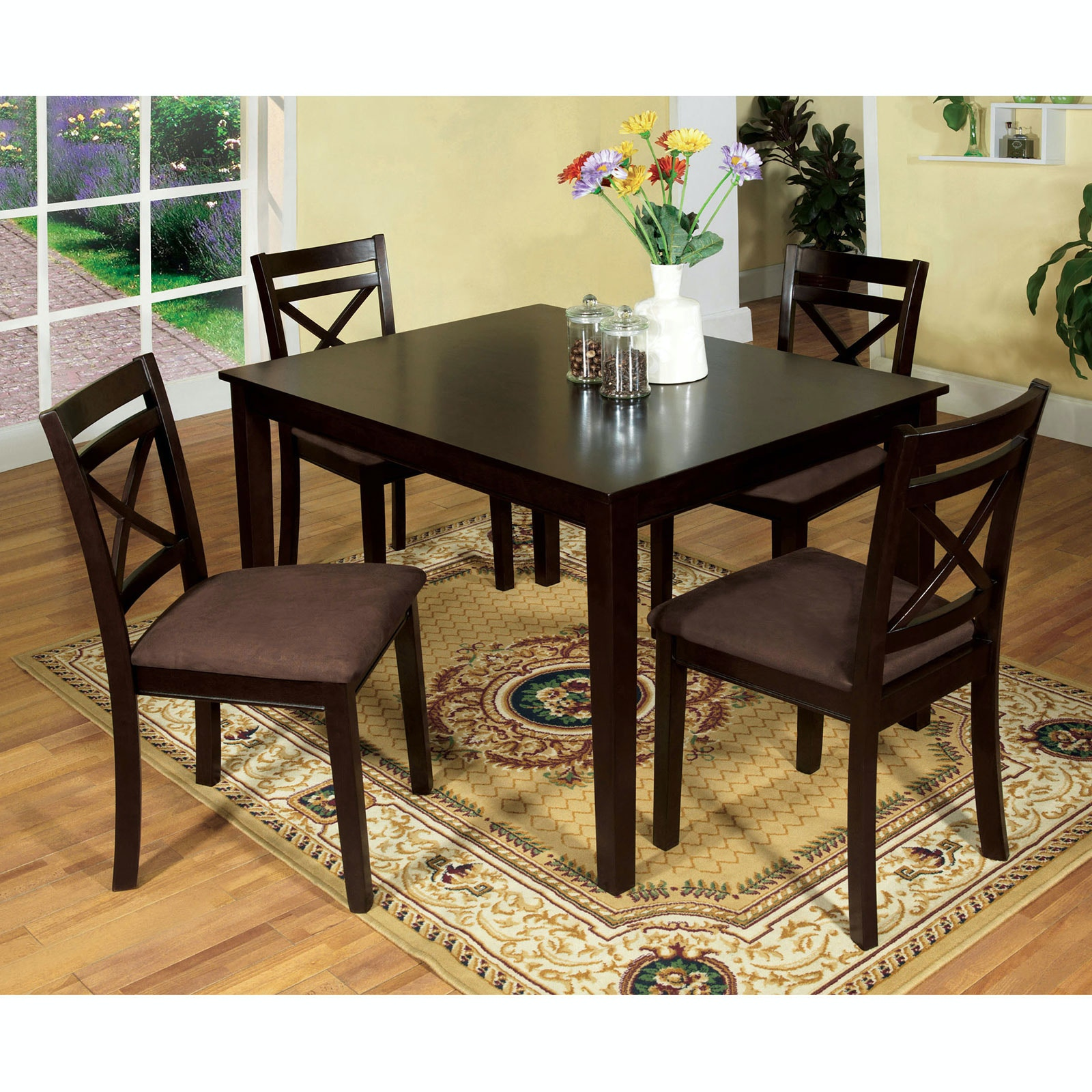 Furniture Of America Dining Room 5 Pc Dining Table Set Cm3400t 5pk Anna S Home Furnishings