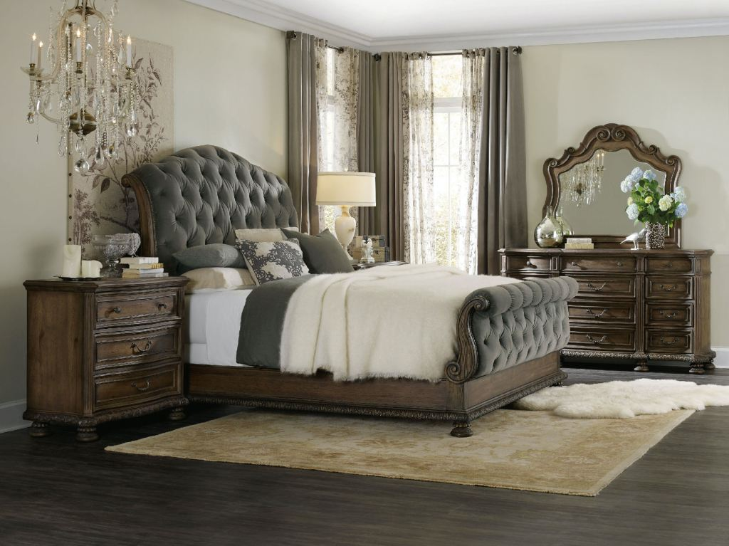 Hooker Furniture Bedroom Rhapsody King Tufted Bed 5070