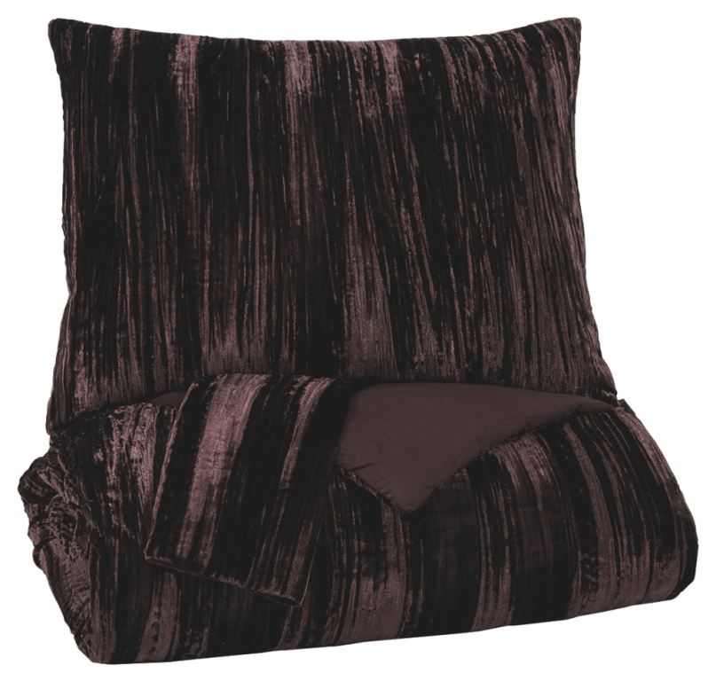 wanete 3 piece king comforter set