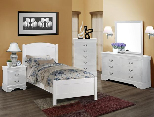 Crown Mark Youth Helene Twin Head Footboard White 5006 T Hbfb Wh