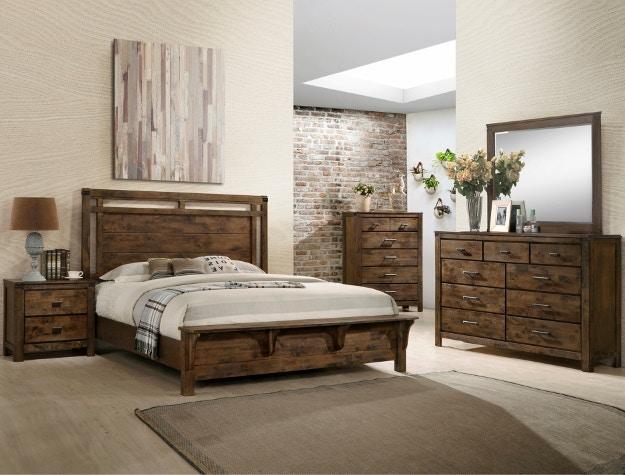 Crown Mark Bedroom Curtis Panel King Headboard B4810 K Hb