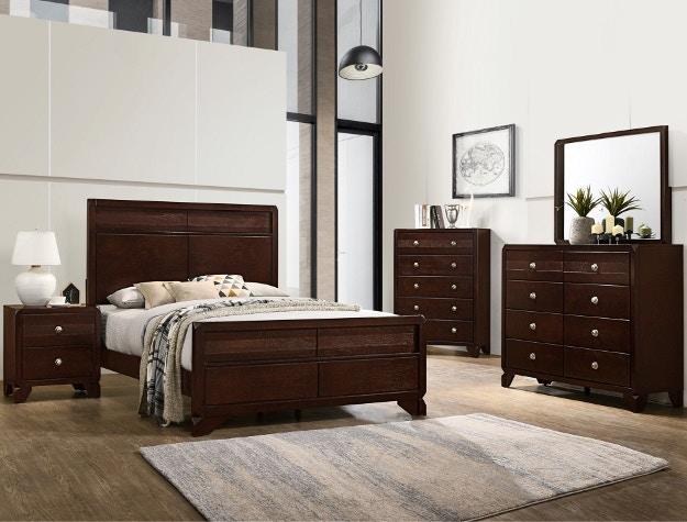Crown Mark Bedroom Tamblin Queen Headboard Footboard B6850 Q Hbfb