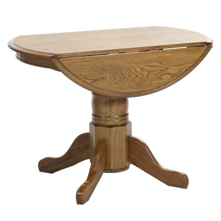 classic oak laminate drop leaf table with 4 side chairs