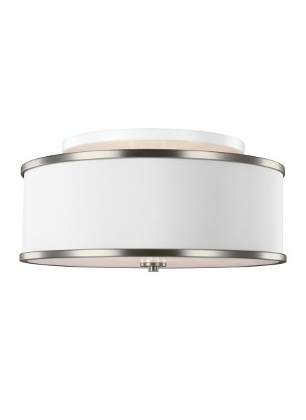 Murray Feiss Lamps and Lighting 3   Light Semi Flush Mount SF339SN     Murray Feiss 3   Light Semi Flush Mount SF339SN