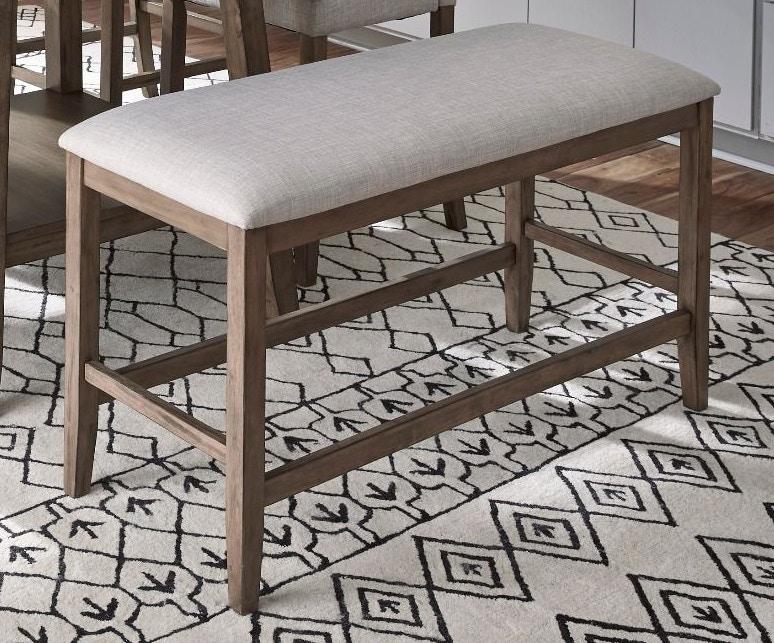 Standard Furniture Dining Room Halden Counter Height Upholstered Bench Brown 13035 Valeri