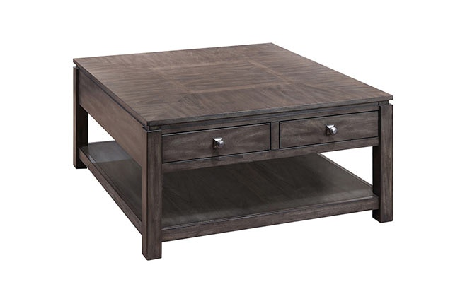 4 drawer square coffee table