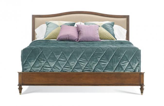 Hickory White Bedroom King Upholstered Panel Bed 425 22 Louis Shanks Austin San Antonio TX