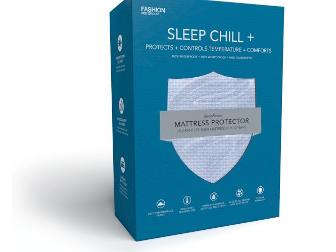 Fashion Bed Group Sleep Chill Crystal Gel Mattress Protector With Cooling Fibers And Blue 3