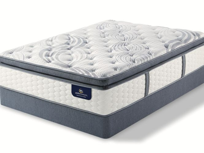 Perfect Sleeper By Serta Trelleburg Super Pillow Top Firm Mattress Set Queen 531274