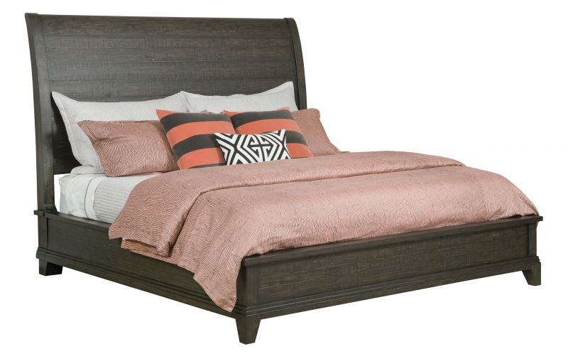 Kincaid Furniture Bedroom Plank Road Charcoal Queen Bed Set Mattress FREE