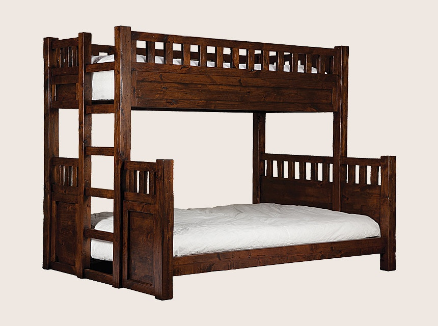 Bch Bedroom Twin Over Full Bunk Bed W Built In Ladder Bbed Wtch Bl Tw Fl Mountain Comfort