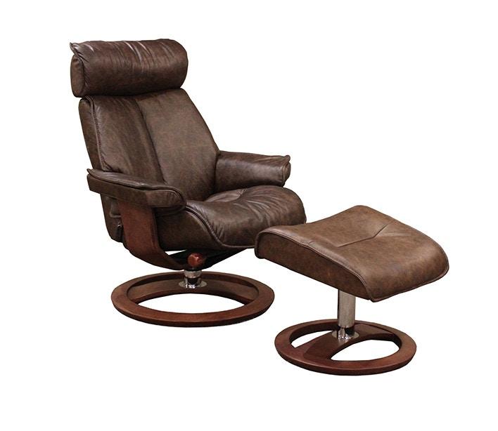 santa monica 100 top grain leather ergo reclining chair ottoman