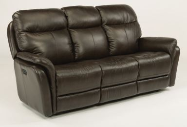 Flexsteel Zoey Leather Power Reclining Sofa With Power