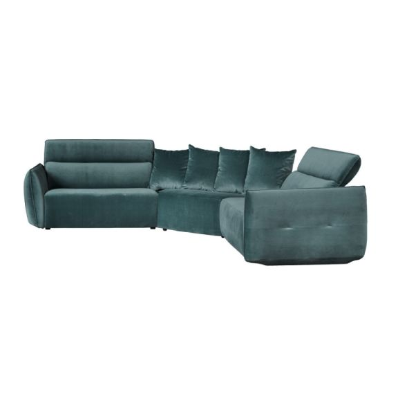 recliner sectional teal grey