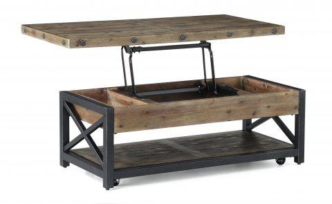 rectangular lift top coffee table with