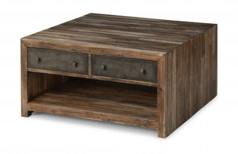 Flexsteel Fulton Square Coffee Table With Casters W1418 0321 Portland Or Key Home Furnishings
