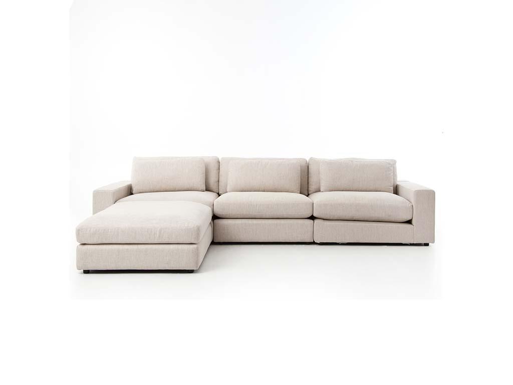 organic modern living room sofa with ottoman 35658