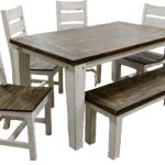 03 2 10315w 119 5 Set Weathered White Coffee Econo 5 Ft Dining Group