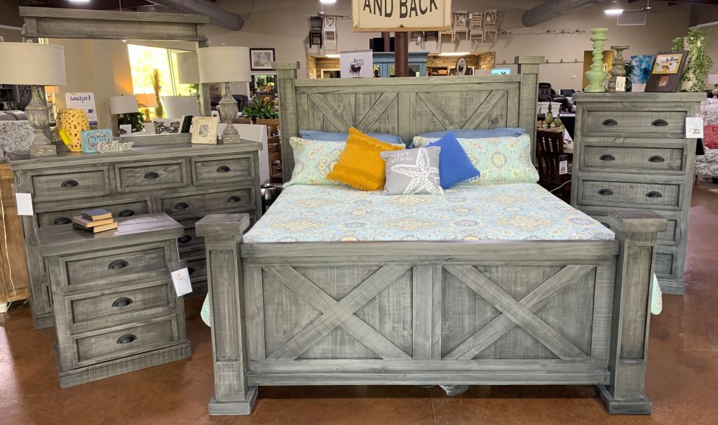 Home > rustic furniture by room > bedroom. gray king bedroom set king bed dresser mirror chest night stand