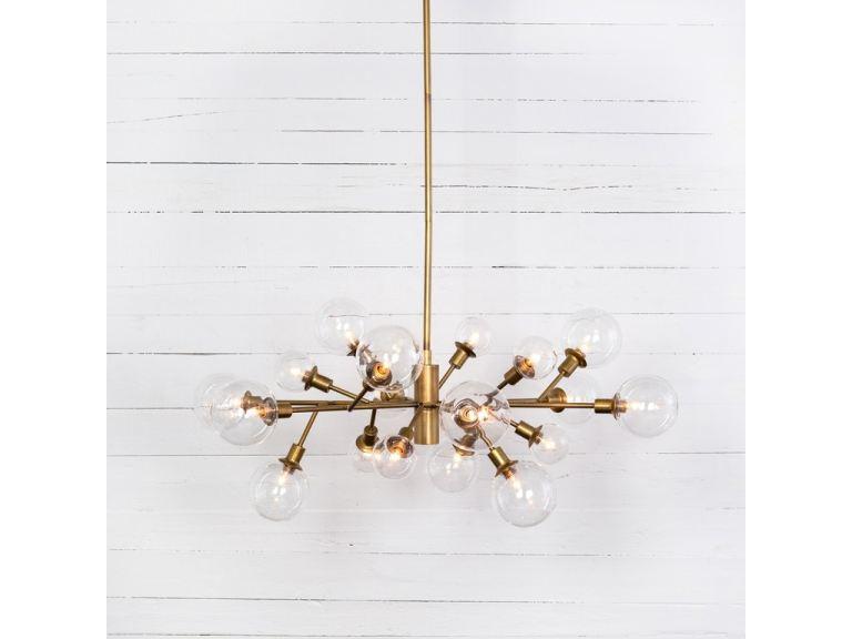 pellman chandelier matte brass ccar 66