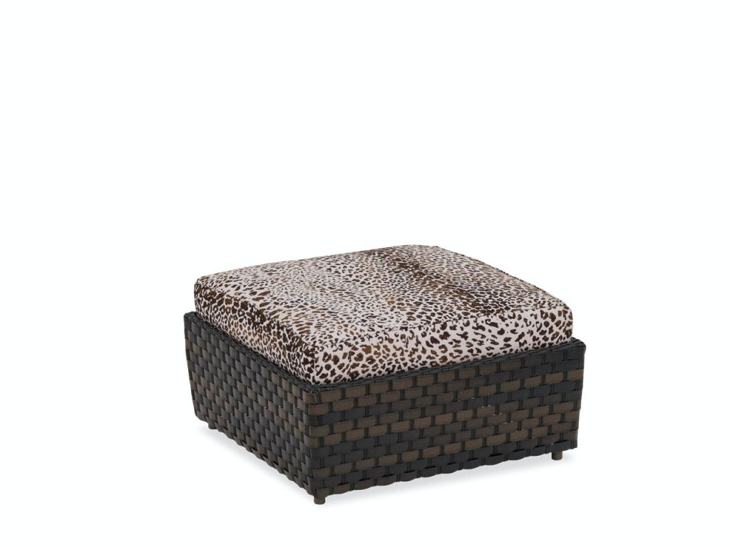 catalina cigar outdoor wicker and instinct espresso cushion ottoman coffee table
