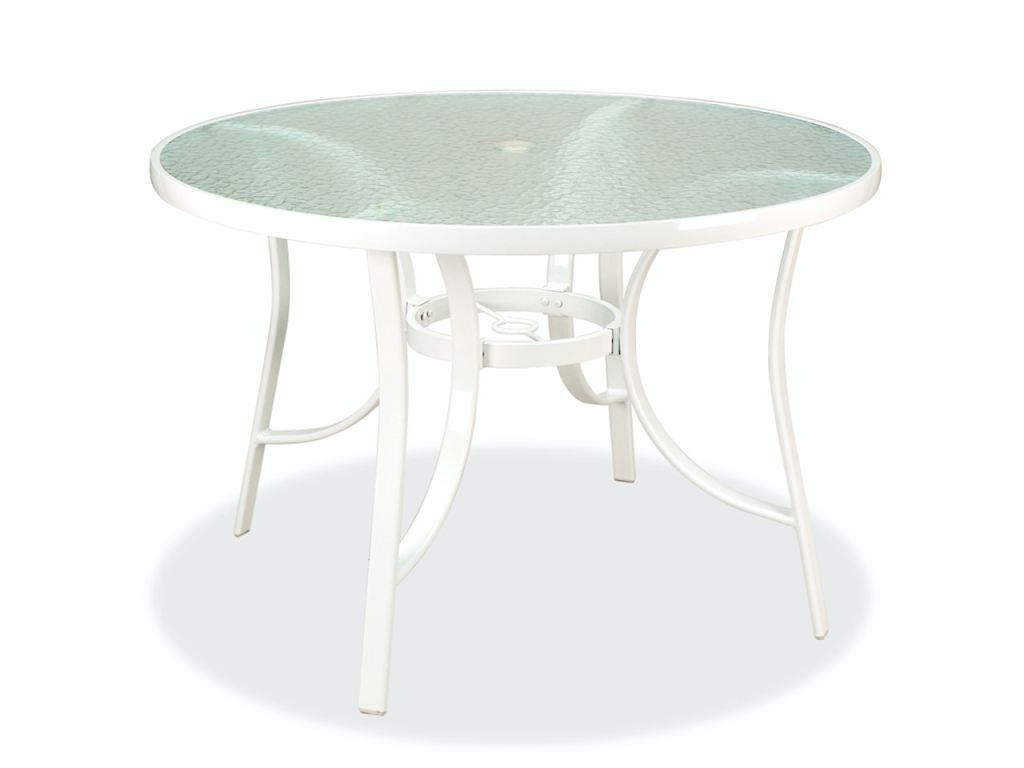 cape cod white aluminum 42 in dining table