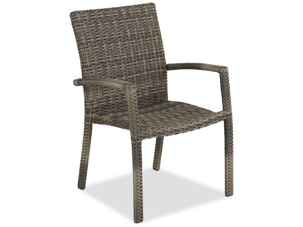contempo husk outdoor wicker dining chair