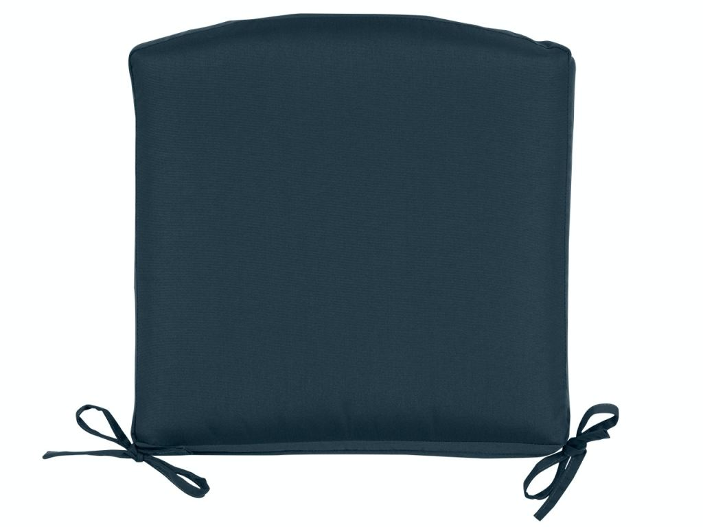 20 x 20 in navy solution dyed polyester seat cushion