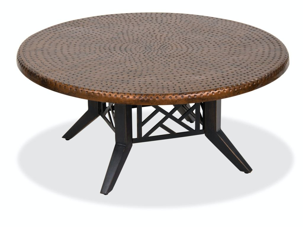 essex brushed bronze cast aluminum 42 in coffee table