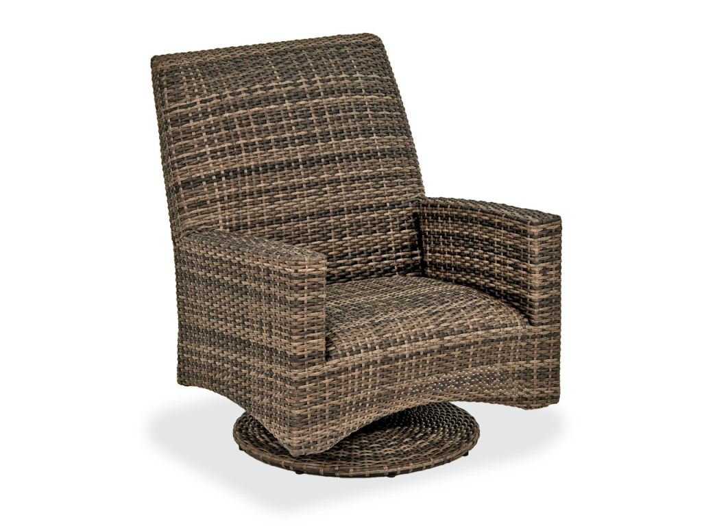 sydney husk outdoor wicker and concealed cushion swivel rocker club chair
