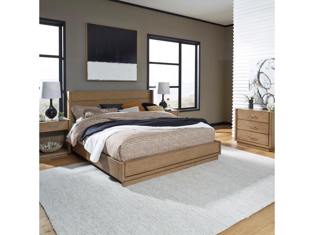 homestyles big sur oak bed 2 nightstands chest bedroom set