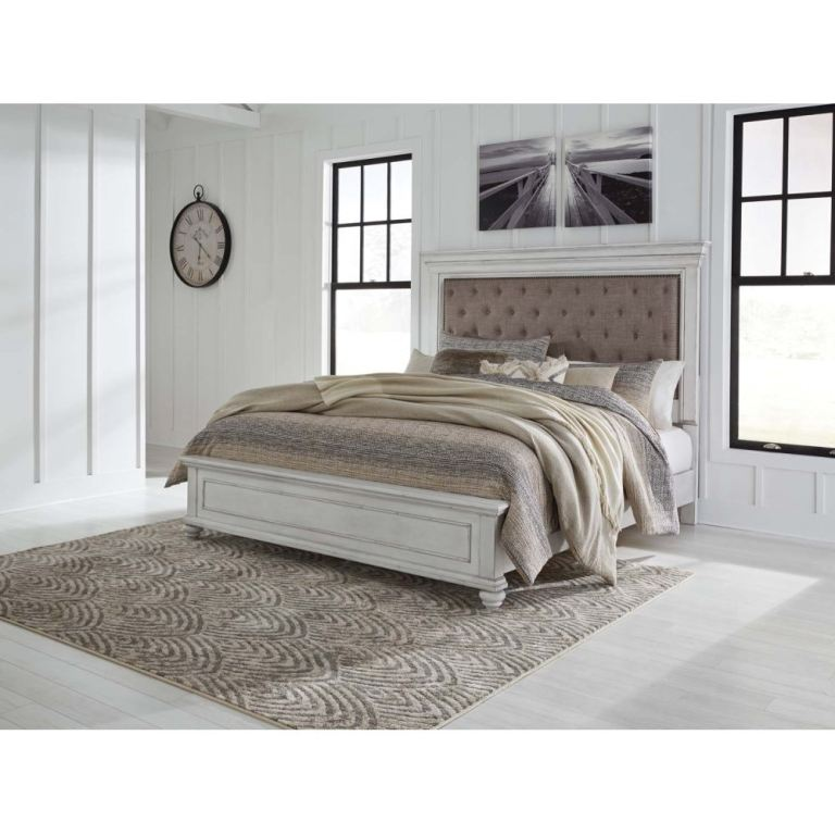 Benchcraft Kanwyn King Upholstered Panel Bed B777 158 Markson S