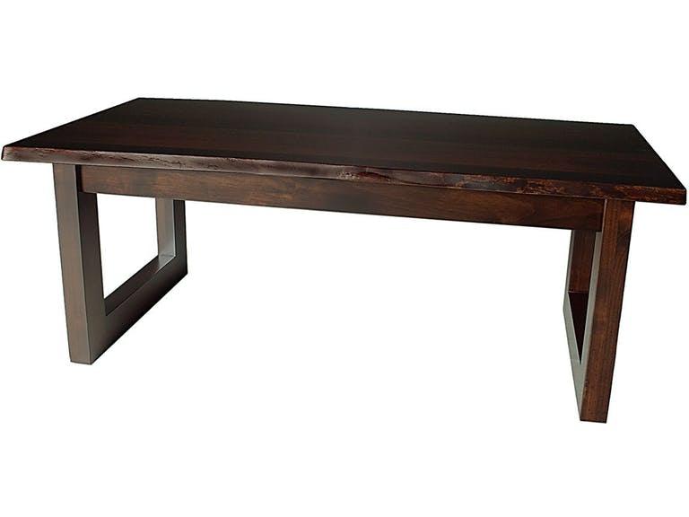 kevil live edge coffee table