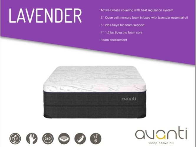 Avanti King Lavender 2 Mattress