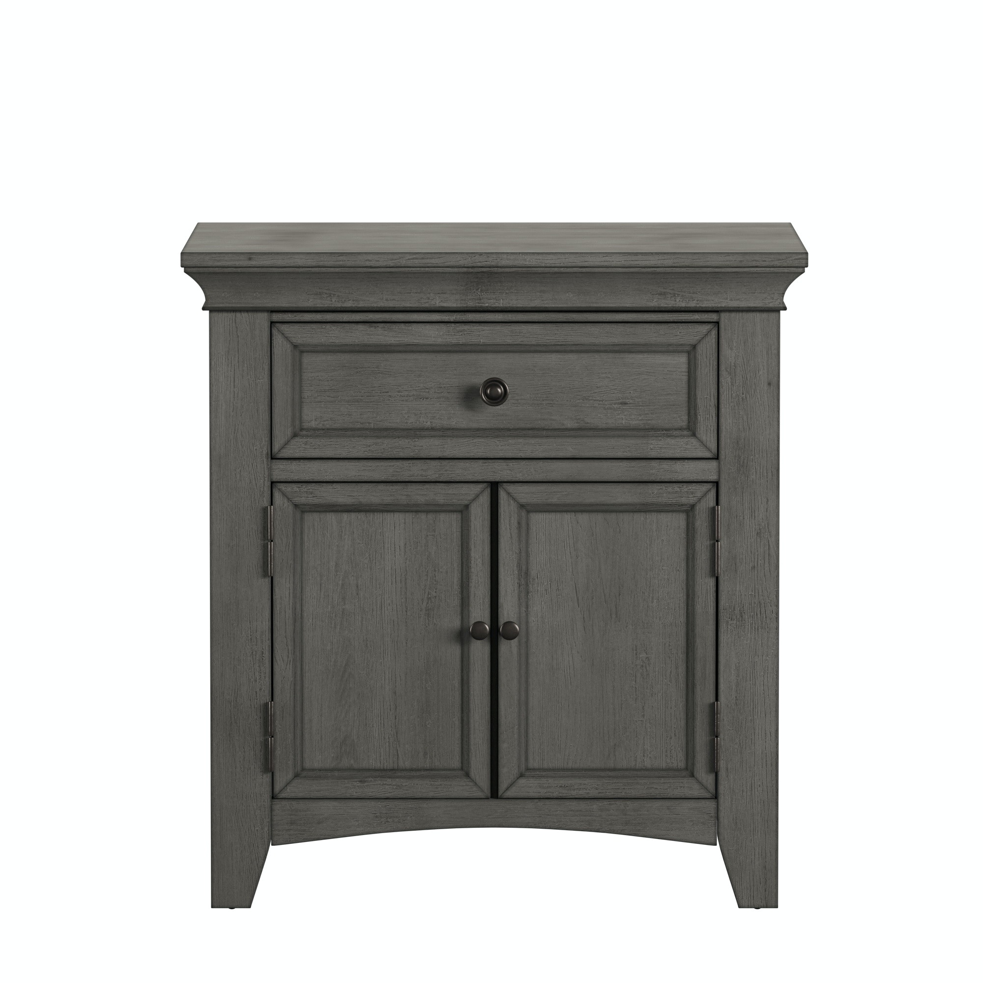 Dearborn Cupboard Nightstand Antique Grey Finish