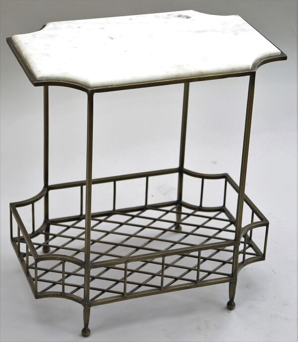 riley iron marble side table