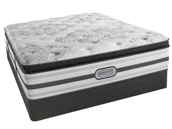 Simmons Beautyrest Platinum Emily Plush Pillowtop Twin Mattress Set G68286 A