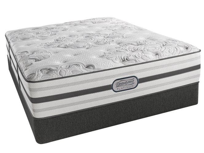 Simmons Beautyrest Platinum Dakota Luxury Firm Full Set G69364 E