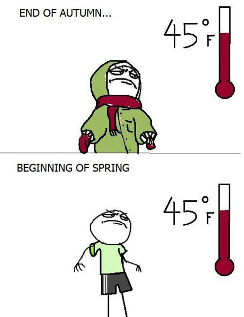 Image result for spring in the midwest meme