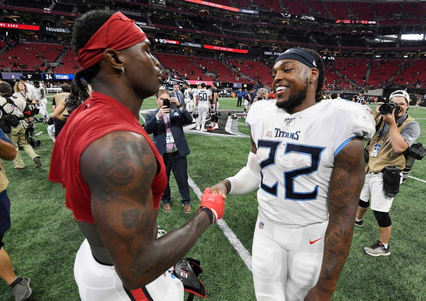 Julio Jones fuels Titans rumors in workout with Derrick Henry