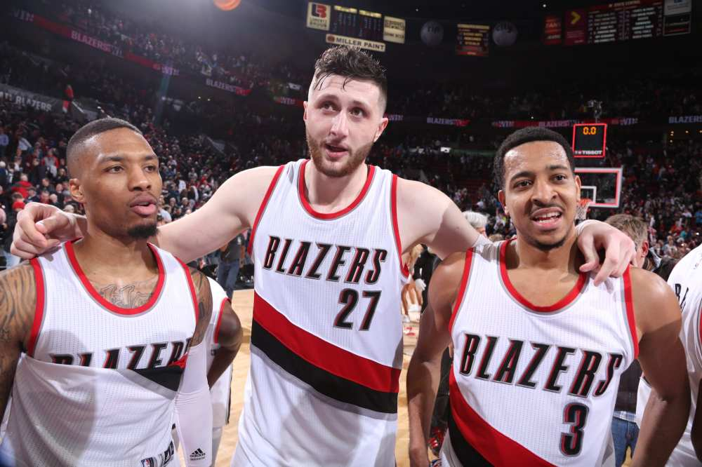 Portland Trail Blazers big 3; Damian Lillard, CJ McCollum, Jusuf Nurkic