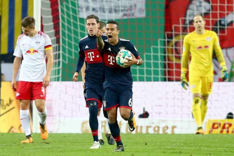 Bayern Munich defeat 10-men RB Leipzig in penalties ...