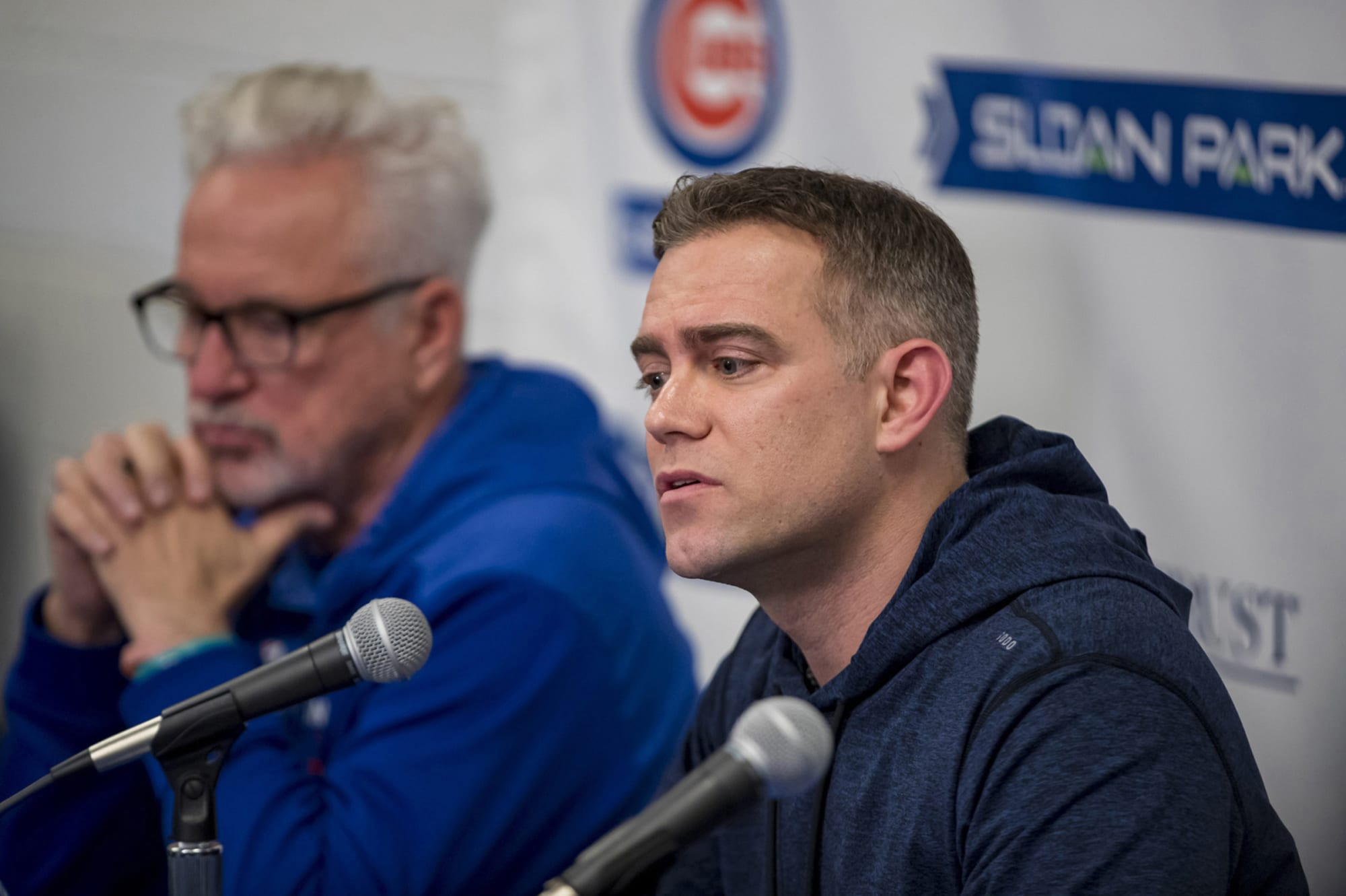 Photo of Cubs executive Theo Epstein shows support for Black Lives Matter