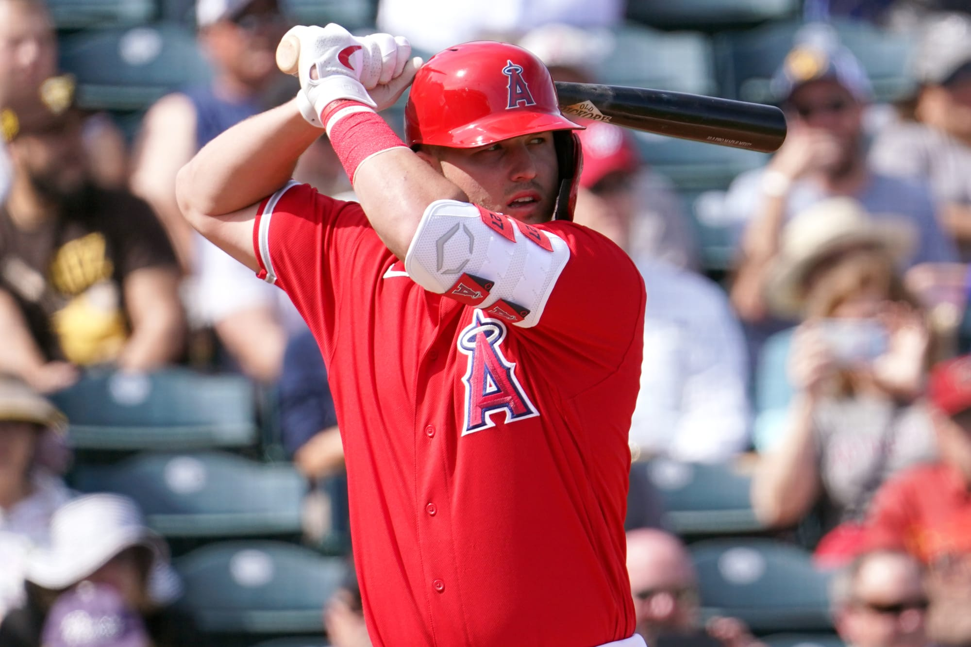 Photo of Mike Trout having second ideas about enjoying this season